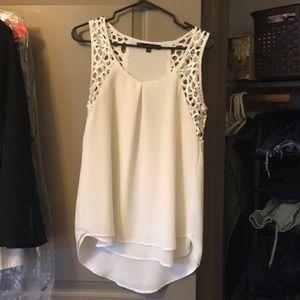 White blouse-like tank top